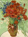 Image: Still Life of Vase with Daisies and Poppies by Van Gogh