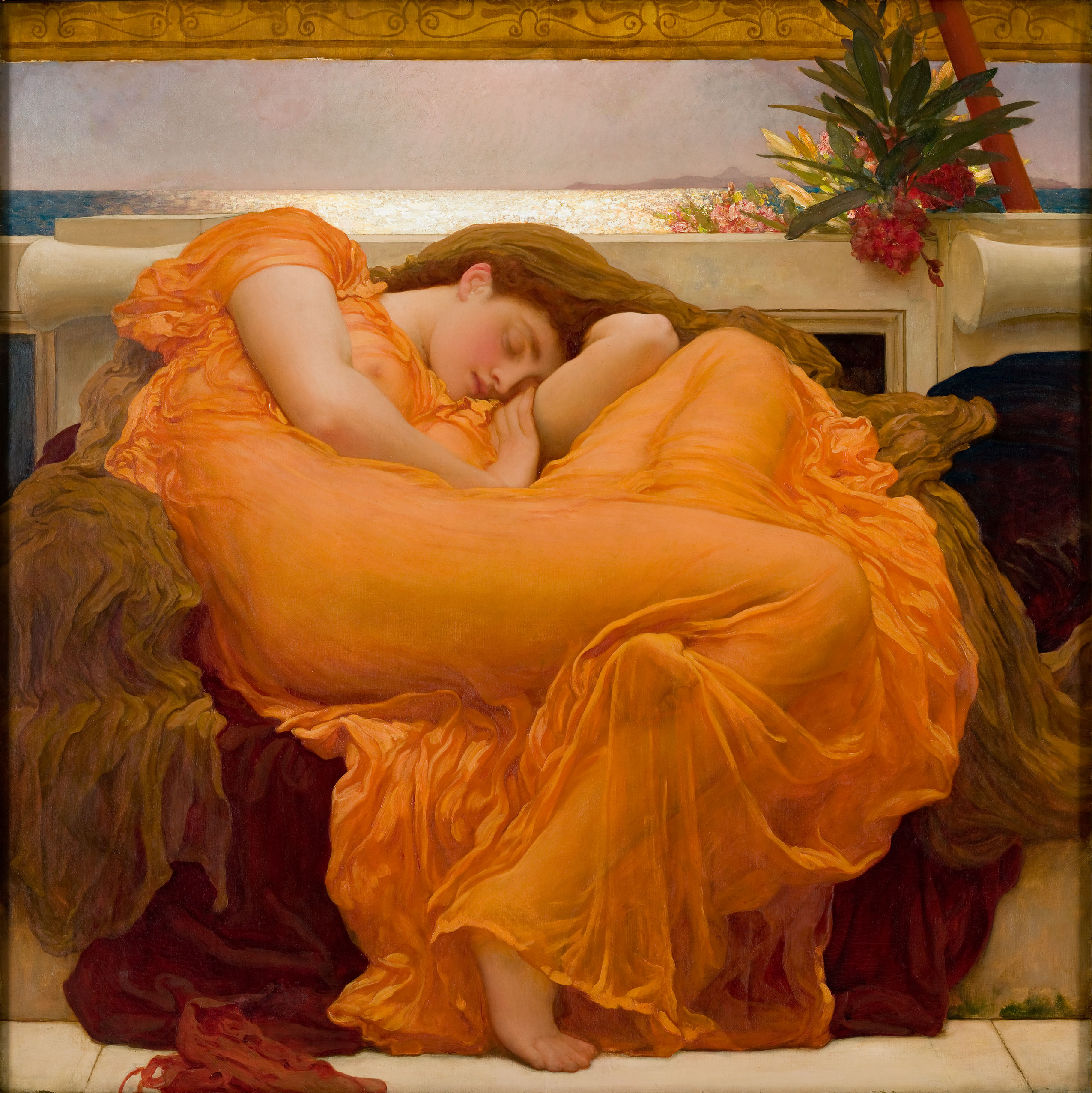 Image: Flaming June by Frederic Lord Leighton