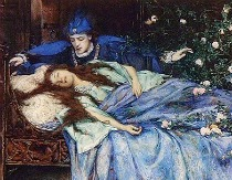 Image: Detail from The Sleeping Beauty by Henry Maynell Rheam