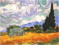 Image: Wheat Field with Cypresses by Vincent Van Gogh