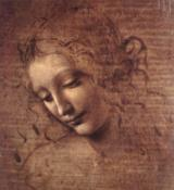 Leonardo da Vinci Head of a Young Woman with Tousled Hair