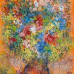 Image: Bouquet Sur Fond Orange by Marc Chagall